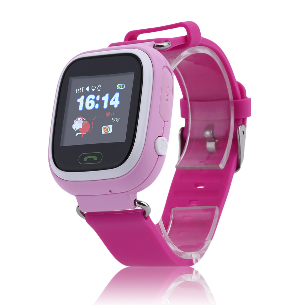 Q90 Children Student Touch Screen Smart Watches GPS Positioning Phone Call WiFi Anti Fall Off Waterproof Wristwatch