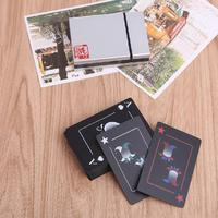 Waterproof Frosted PVC Poker Playing Magic Cards Collection Board Game Gift With Box For Adult Party