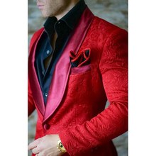 HB065 Coat Pants 2 Pieces Men's Red Tuxedos Slim Fit Groom Suit For Man Latest Men Wedding Suits Terno Masculino Custom Made