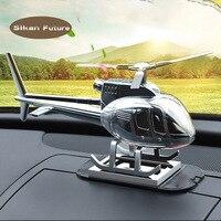 자동차 용품 크리 에이 티브 헬리콥터 항공기 장식 고급 금속 선물 태양 자동차 향수 향수 자동차 비행기 장식