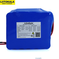 LiitoKala 12V 20Ah high power 100A discharge battery pack BMS protection 4 line output 500W 800W 18650 battery