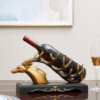 Antlers Wine Rack Wine Holder Shelf Resin Sculpture Practical Sculpture Wine stand Home Decoration Interior Crafts