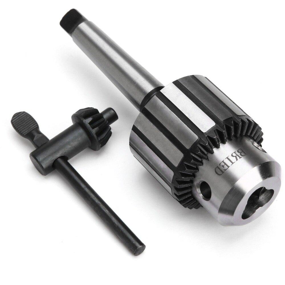 New MT2 Mini Drill Chuck Arbor Self Tighten 5/64 To 1/2 Carbide Steel Lathe Tool Parts with Shank hight quality morse taper shank drill chucks set cnc lathe drill chuck 5 to 20mm b22 with no 3 morse taper mt3 with key