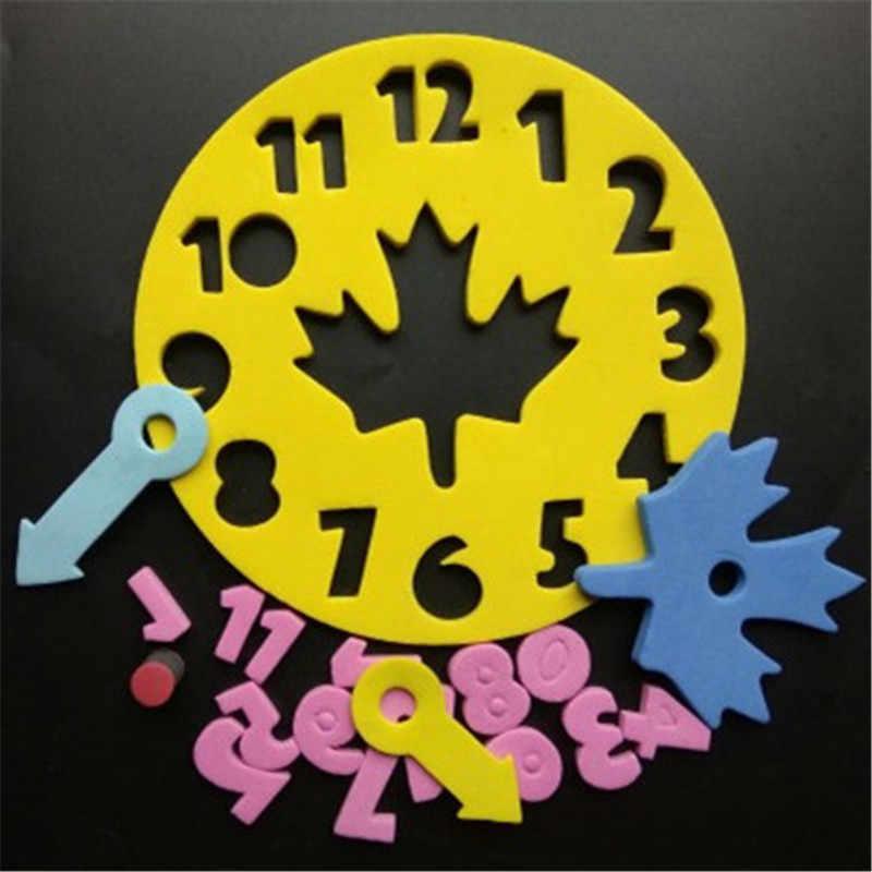 1 peça Bebê Crianças Aprendendo Brinquedos Educação Eva DIY Divertido Relógio de Jogo de Matemática para Crianças Presentes Do Brinquedo Do Bebê