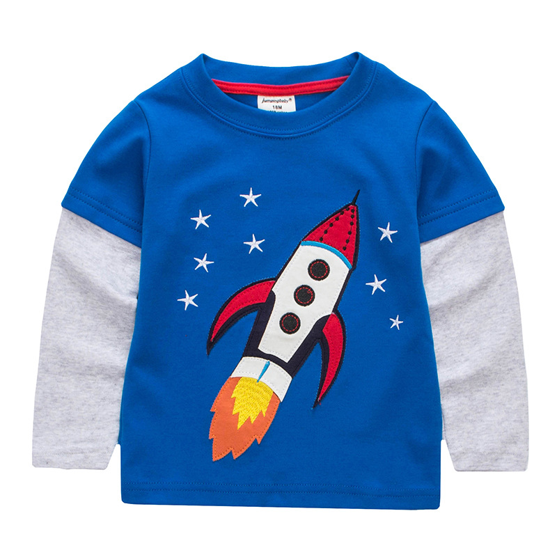 Jumpingbaby 2017 Kids Clothes Children Boys T shirt Cotton T-shirts Baby CamisetaBoy Long Sleeve Cars Tees shirt Clothing Roupas цена