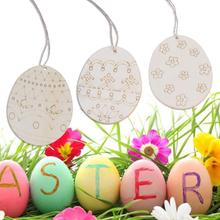 Buy easter egg ornaments holidays and get free shipping on 46pcs easter egg rabbit wooden tags hanging pendants party gifts holiday easter party supplies negle Image collections