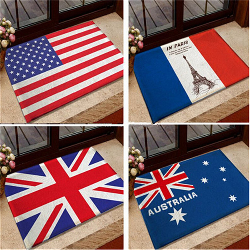 Patriotic 40*60CM Soft Home Textile British American Flag Anti Slip Chair  Pad Cushions Soft