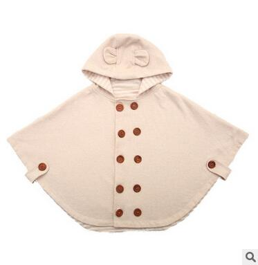 2015 мода комби детские пальто мальчики девушки Smocks верхняя одежда ватки плащ перемычки мантии детская одежда пончо кабо
