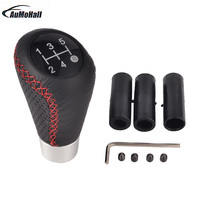 1pc Universal Manual Car Gear Shifter Shift Lever Knob Cover Leather Only Fits For Circular Gear