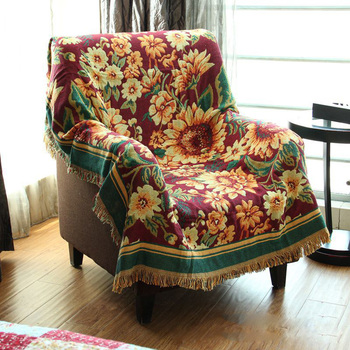 CHAUSUB Thick Cotton Blankets Winter Home Leisure Sofa Blanket Piano Cover Bedding Bed Cover Carpet Jacquard Coverlet