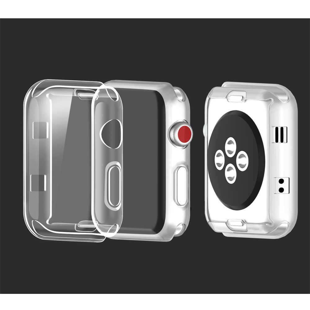 רצועת עבור Apple Watch להקת 42mm 38mm apple watch מקרה 44mm 40mm 4 iwatch רצועת מקרה 5 3 2 כיסוי apple watch 4 5 אביזרים