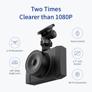 Image 2 - YI Ultra Dash Camera With 16G Card Black 2.7K Resolution A17 A7 Dual Core Chip Voice Control light sensor 2.7 inch Widescreen