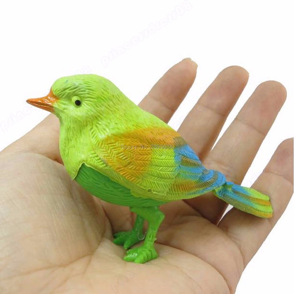 1Pc Pretty Cute Funny Sound Voice Control Activate Toy Gift Chirping Singing Bird -B116