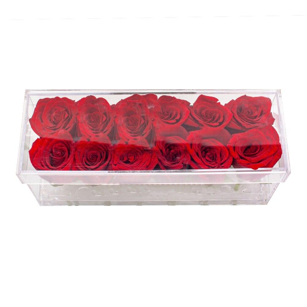 Акриловые окне цветок Роза случае Святой подарок новогоднее; рождественское подарок ко Дню Святого Валентина отправить подруга без цветы