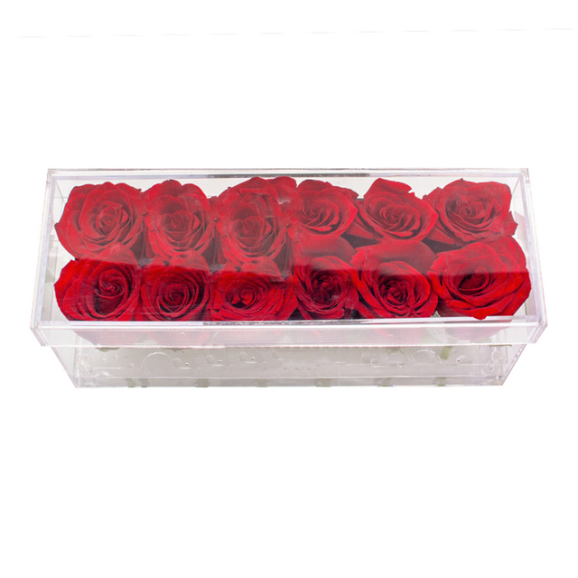 Acrylic Flower Box Rose Case Holy Gift The New Year Christmas Valentine's Day Gift Send Girlfriend Without Flowers