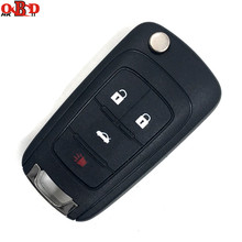 HKOBDII New Flip Remote Car Key 4 Buttons 315/433MHz with ID46 Electronic Chip For Chevrolet Malibu