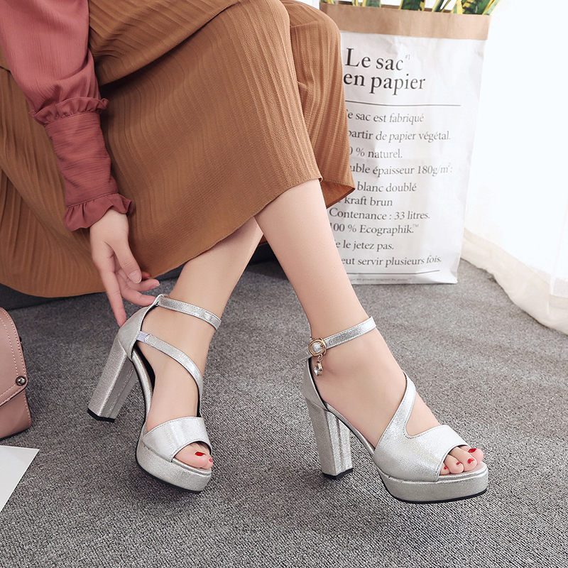 c4888203f71 IMKKG 2017 new summer strappy heels platform woman sandals designer sandals  for women sexy brand open toe gladiator sandal S318-in Women s Sandals from  .