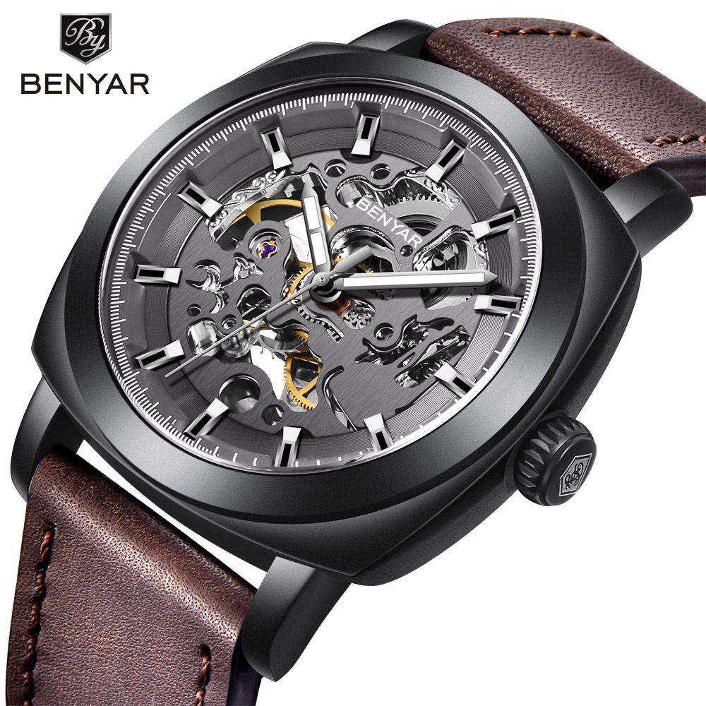 Fashion Mens Watches Luxury Automatic Mechanical Men Watch Top Brand Leather Strap Mens Business Clock relogio masculinoFashion Mens Watches Luxury Automatic Mechanical Men Watch Top Brand Leather Strap Mens Business Clock relogio masculino