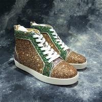 Классические блестящие Мужская обувь с высокими берцами; Цвета: черный, Элитный бренд кроссовки на шнуровке обувь для мужчин, Zapatos Hombre повсе