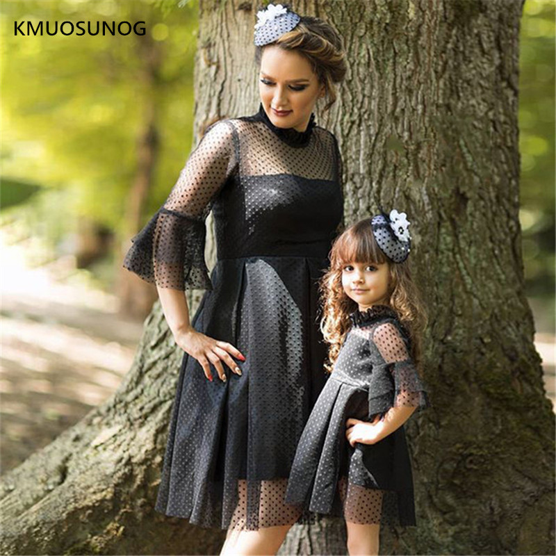 Family-Matching-Mother-Daughter-Dress-Spring-Mother-and-Daughter-Black-Dress-Lace-Dresses-with-Bell-Sleeve.jpg_640x640