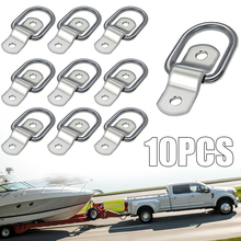 New Arrival 10pcs/Set Tie Down Lashing Ring And Staple Cleat Van Truck Trailer Horsebox Auto Towing Ropes