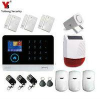 LCD Security Wireless Wifi SMS GSM Autodial Home House Burglar Intruder Alarm Solar Power Siren PIR