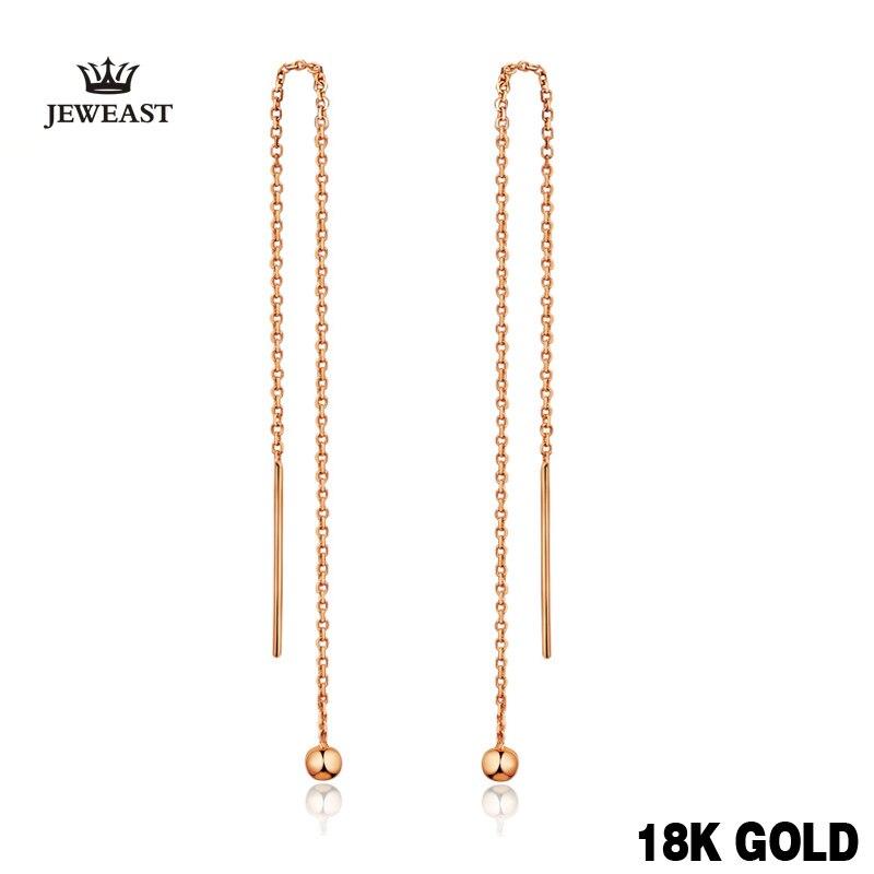 18 k Pur Or Boucles D'oreilles Simple Classique de Bon Goût Vintage Charme réel 750 Solide Bonne Fin Parti Discount Femmes Fille Comme cadeau