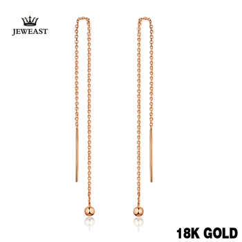 18k Pure Gold Drop Earrings Simple Classic Tasteful Vintage Charm Real 750 Solid Good Fine Party Discount Women Girl Like Gift - DISCOUNT ITEM  55% OFF All Category