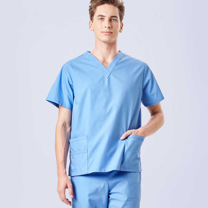 f62c0817e58 Unisex Medical Clothing Scrub Taskwear Nursing Uniform for Women and Men  Outlet Solid Color Dentist Workwear