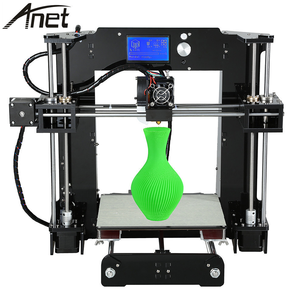 Anet A6 3D Printer DIY Kit Desktop Prusa i3 LCD Control Screen Display 3D Printer Kit