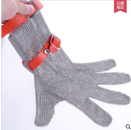 Морские пищевые перчатки на половину ладони/ступни цепь почта oyster перчатки нержавеющая стальная металлическая сетка перчатка шайба пищевы... - 3