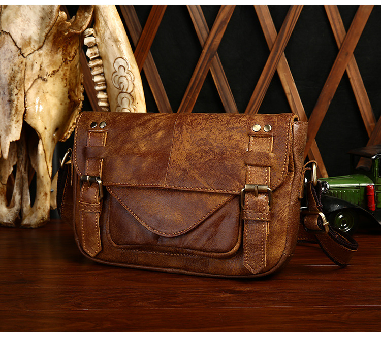 Fashion Genuine Leather Men Messenger Bags Cowhide Leather Male Cross Body Bag Casual Men Commercial Office
