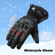 Pro biker Winter Motorcycle Gloves Moto Warm Waterproof Protective Motorcycle Riders Anti Fall Off Gloves