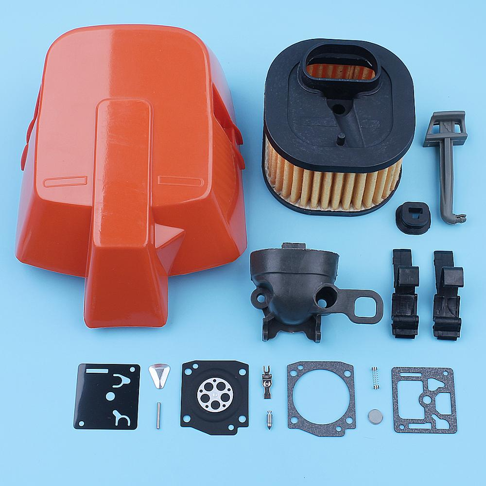 Top HD Air Filter Cover Intake Adaptor Kit For Husqvarna 372XP 365 362 371 372 Chainsaw 503 81 77-01 Replacement Spare Parts