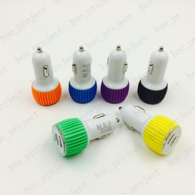 Резиновое кольцо 2.1A/1A Адаптер Питания Dual <font><b>USB</b></font> 2 Порт Автомобильное Зарядное Устройство для iphone 6s plus <font><b>5</b></font> 5s сэма s5 s6 край 4 note5 4 100 шт./лот