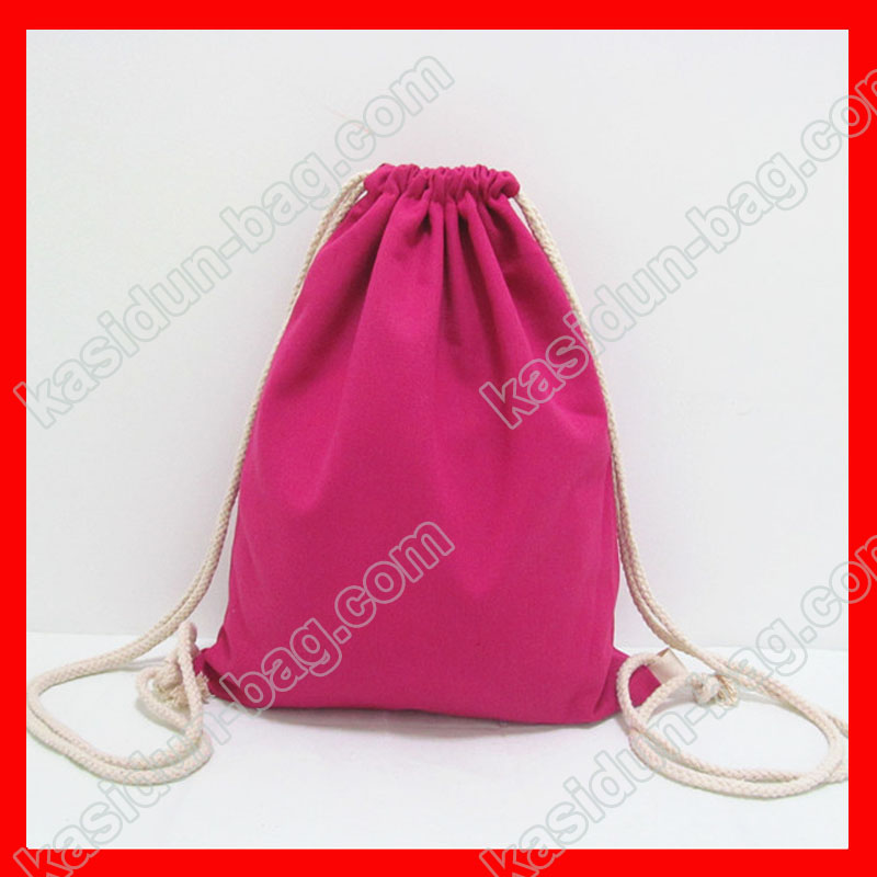 (200pcs/lot) size 30x35cm 12oz rose red color canvas drawstring backpack for kids
