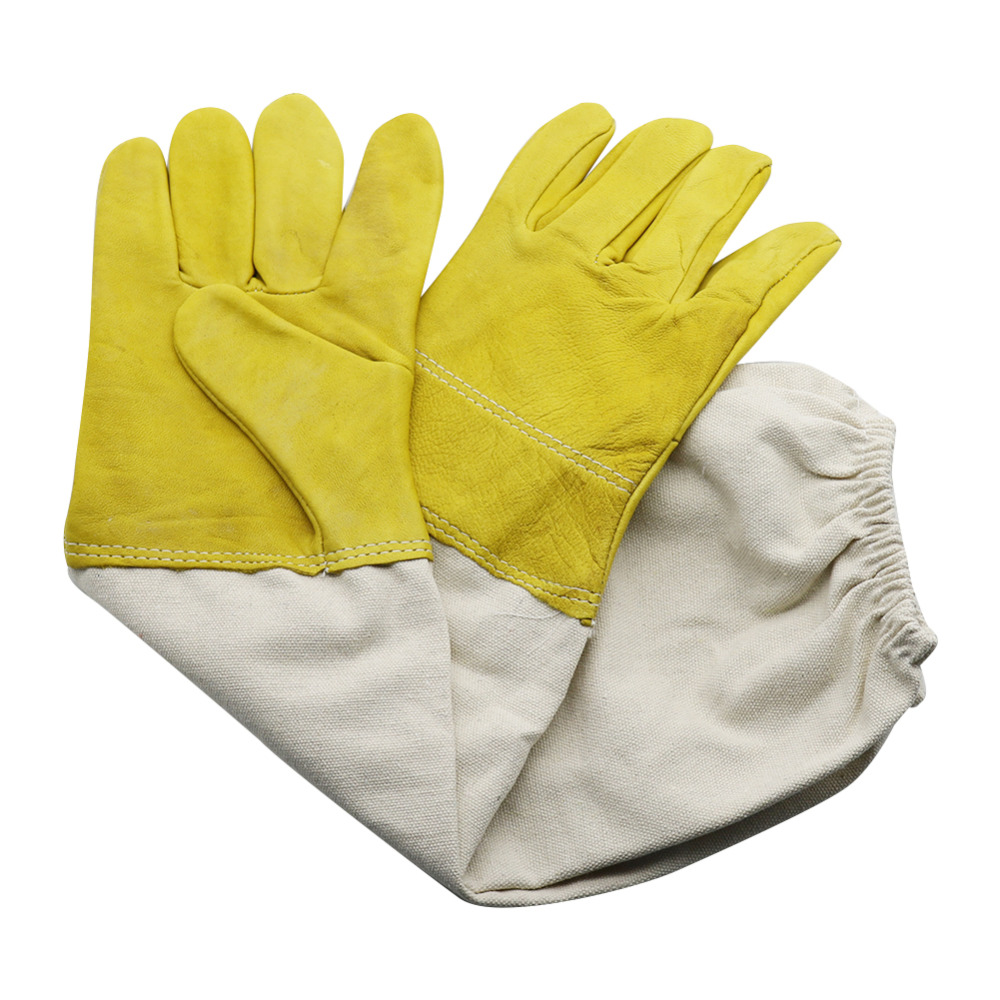Professional Protective Apiculture Gloves Goatskin Sleeves Beekeeper Anti Bite Bee Tools Beekeeping Equipment 1 PairProfessional Protective Apiculture Gloves Goatskin Sleeves Beekeeper Anti Bite Bee Tools Beekeeping Equipment 1 Pair