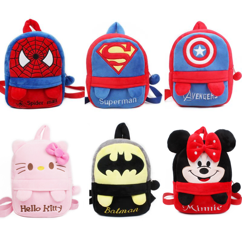 High quality baby schoolbag plush backpack with foot Lovely Kindergarten boys  girls School bag candy bag cb66858e42c26