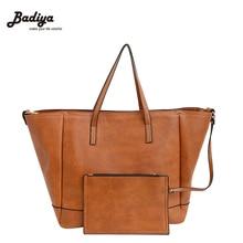 New 2 Pcs Set Women Handbag Fashion Tote Crossbody Bag Solid Portable Ladies Messenger Shoulder Bags