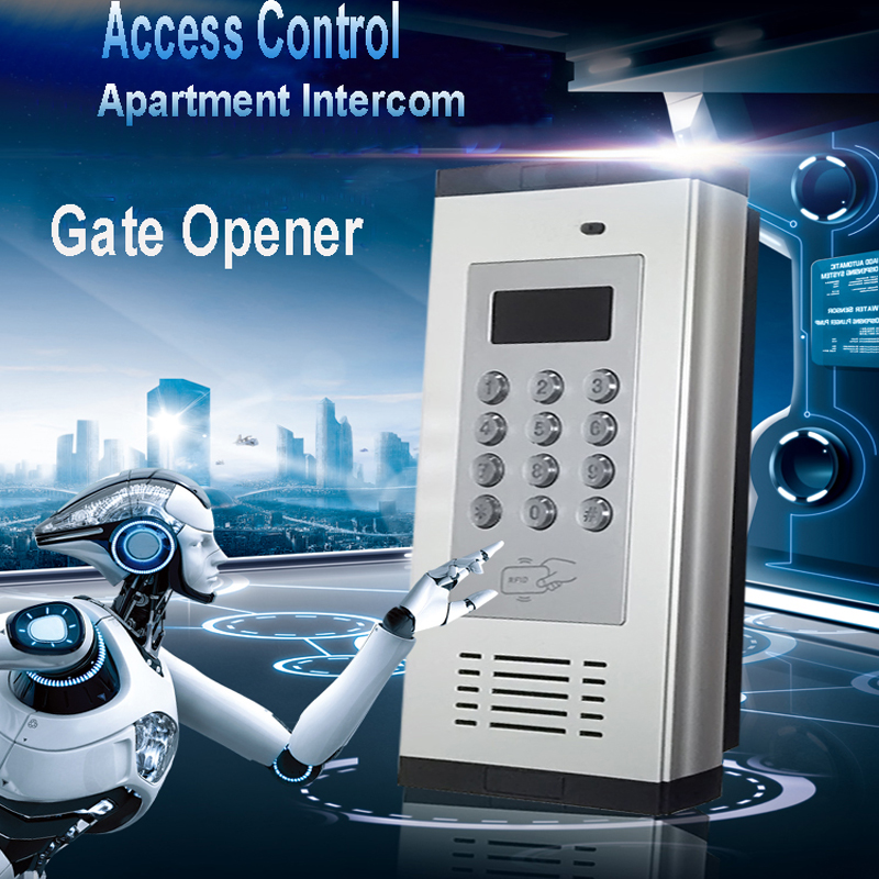 GSM 3G Access Control & Apartment Intercom Gate Opener by Phone Call & SMS Support RFID card K6GSM 3G Access Control & Apartment Intercom Gate Opener by Phone Call & SMS Support RFID card K6