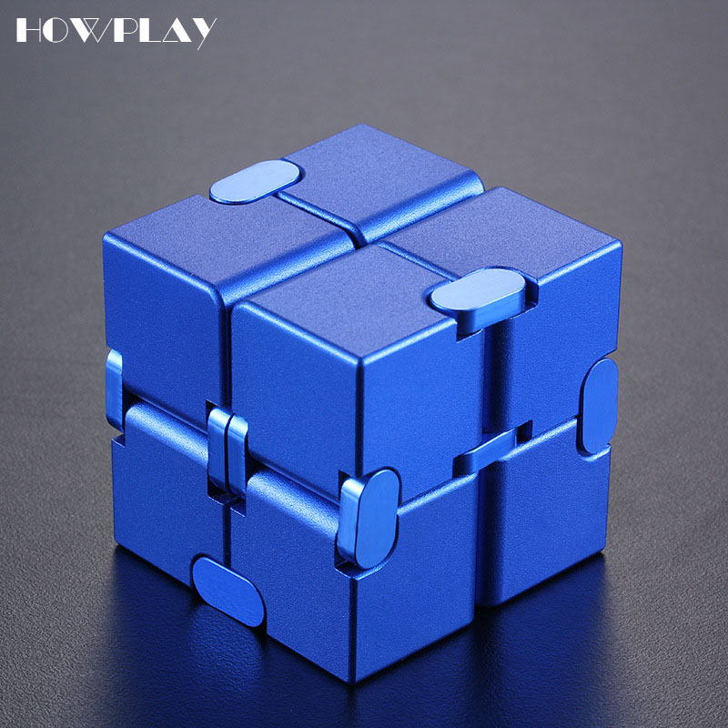 Howplay Cube Metal Stress Relief Cube Magic Spinner Anti Stress Relief Adult Relaxing Autism Toys For Children Gift EDC ADHD