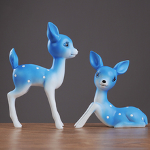 cute Animal resin deer ornaments creative Living Room Resin Desktop Decor Crafts Creative Ornaments Gift Supplies