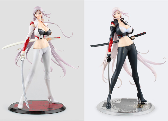New Triage X Yuuko Yuko Sagiri Tomoko Darkness With 2 Swords Sexy Two Color Version 32cm Orchid Seed Action Figure swords of glass