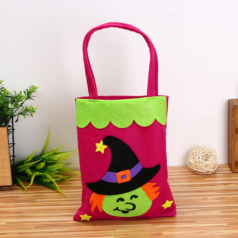 1pc Candy Bag Halloween Bags Trick or Treat Bags with Decoration Halloween Sack Decoration Gift bag Witch in Gags Practical Jokes from Toys Hobbies