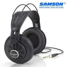 Fone de ouvido profissional samson, headset dinâmico grande com abertura traseira para música dj e estúdio, sr850 100%