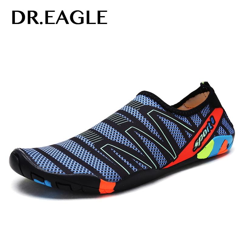 Dr. aigle Femmes pantoufles baskets aqua chaussures d'eau chaussures de natation sport hommes de plage de bain pieds nus aqua maille chaussures pour la plongée