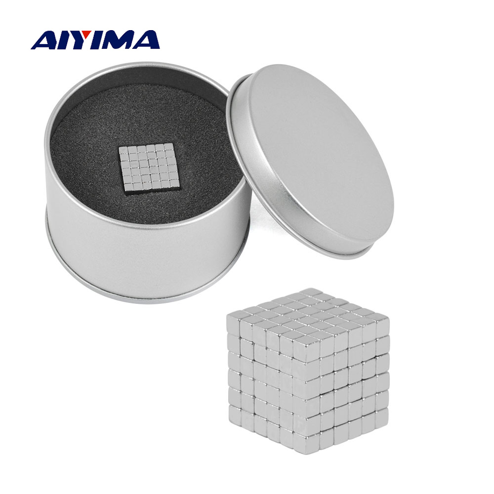 Aiyima 216Pcs/Pack 3*3*3mm Square Neodymium Magnet Magnetic Strong NdFeB imanes DIY Buck Neo Cubes Puzzle Magnets For Gift