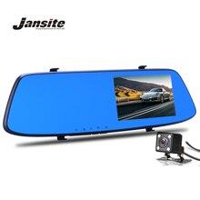 Jansite Night Vision Câmera Do Carro Dvr Revisão Espelho Azul Digital Video Recorder Auto Registrator Camcorder Traço Cam Full HD 1080 P