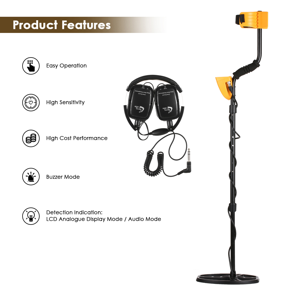 High Sensitivity Metal Detector MD 6350 Gold Digger Jewelry Hunting Treasure Underground Search LCD metal detector