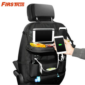 iPhone Multi Car Back Seat Organizer For Ipad Pockets Foldable Tray With 4 USB Charger